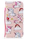 Pour samsung galaxy s8 s8 plus casquette unicorn motif peint pu materiel de peau carte stent portefeuille telephone cas s7 s7 bord