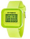 Women\'s Fashion Watch Digital Watch Digital Silicone Band Black White Blue Green Pink