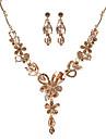 Жен. Набор украшений Мода Euramerican Сплав В форме цветка 1 ожерелье 1 пара сережек Для Для вечеринок 1 набор Свадебные подарки