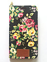 For Samsung Galaxy Note 3 Case Cover Card Holder with Stand Flip Pattern Full Body Case Flower Hard PU Leather