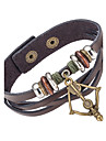 Men\'s Wrap Bracelet Leather Bracelet Jewelry Natural Fashion Leather Alloy Irregular Jewelry For Special Occasion Gift Sports