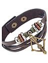 Homme Bracelets Bracelets en cuir Bijoux Naturel Mode Cuir Alliage Bijoux Pour Occasion speciale Sports