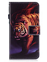 For Apple iPhone 7 7 Plus 6S 6 Plus SE 5S 5 Case Cover Tiger Pattern Painted PU Skin Material Card Stent Wallet Phone Case