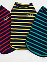 Other Clothes/Jumpsuit Dog Clothes Cute Casual/Daily Stripe Yellow Ruby Green