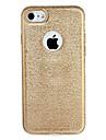 Pour Apple iphone 7 7plus caisse de couverture plaquage couverture arriere etui brillant couleur unie tpu 6s plus 6 plus 6s 6