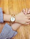 Mulheres Relogio de Moda Relogio de Pulso Bracele Relogio Unico Criativo relogio Chines Quartzo Aco Inoxidavel BandaVintage Bracelete