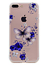 For iPhone 7 Plus 7 Phone Case Butterfly and Flower Pattern Soft TPU Material Phone Case 6S Plus 6 Plus 6S 6 SE 5S 5