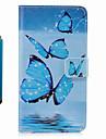 Pour Etuis coque Portefeuille Porte Carte Avec Support Clapet Motif Coque Integrale Coque Papillon Dur Cuir PU pour SamsungS8 S8 Plus S7
