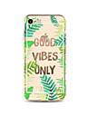 Case for iPhone 7 Plus 7 Cover Transparent Pattern Back Cover Case Word / Phrase Tree Soft TPU for iPhone 6s plus 6 Plus 6s 6 SE 5s 5c 5 4s 4