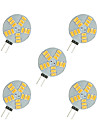 2.5W LED a Double Broches 15 SMD 5630 220 lm Blanc Chaud Blanc DC 12 V 5 pieces