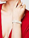 Жен. Браслет Теннисные браслеты Стразы Мода Свадьба Pоскошные ювелирные изделия ElegantСтразы Серебрянное покрытие Искусственный