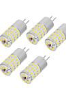 5.5W Двухштырьковые LED лампы T 48 SMD 4014 550-650 lm Тёплый белый Холодный белый V 5 шт.