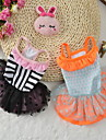 Dog Dress Dog Clothes Party Birthday Casual/Daily Wedding Princess Black Orange