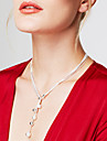 Women\'s Chain Necklaces Lariat Y Necklaces Y Shaped Ball Silver Sterling Silver Fashion Long Personalized Costume Jewelry Jewelry For