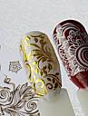 1 Стикер искусства ногтя С рисунком Компоненты для самостоятельного изготовления Стикер макияж Косметические Ногтевой дизайн