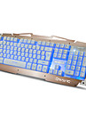 Ruyiniao m-500s metal jogo retroiluminado teclado 104 teclas usb cabo