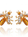 Women\'s Stud Earrings Imitation Diamond Classic Costume Jewelry Fashion Alloy Bee Jewelry For Party Gift Daily Evening Party Stage