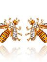 여성용 스터드 귀걸이 모조 다이아몬드 클래식 의상 보석 패션 합금 벌 보석류 제품 파티 일상 이브닝 파티 무대