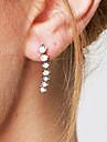 Boucles d\'oreille goujon Cristal Imitation de diamant Zircon cubique Mode Personnalise Elegant Adorable Cristal Zircon Bijoux Blanc Bijoux