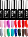 60 Colors Modelones Beauty Nail Art Gel Polish Glitter UV Lacquer Soak off 7ml