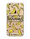 Etui pour iphone 7 plus 7 recouvrement transparent motif couverture arriere caisse de fruits banane doux tpu pour apple iphone 6s plus 6
