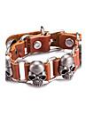Муж. Кожаные браслеты Бижутерия Винтаж Сплав В форме черепа Бижутерия Назначение Повседневные