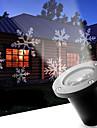 LED Snowflake 12W Outdoor Lawn Snowflake Lamp AC100-240V Cool White 1Pcs