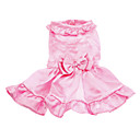 Hunde Kleider Rosa Hundekleidung Frühling/Herbst einfarbig Hochzeit