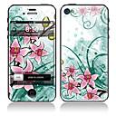 Elegante Blumen-Muster Vorder-und Rückseite Full Body Sticker für iPhone 5