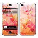 Blütenblatt Muster Vorder-und Rückseite Full Body Schutzfolie Sticker für iPhone 5