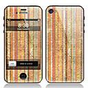 Stripe Gemalt Vorder-und Rückseite Screen Protector Film für iPhone 4/4S