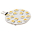 3W G4 LED Doppel-Pin Leuchten 15 SMD 5050 210 lm Warmes Weiß DC 12 V