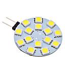 2W G4 LED Doppel-Pin Leuchten 15 SMD 5050 150 lm Natürliches Weiß AC 12 V