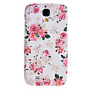 Elegantes Design Pfingstrosen Muster Relief Hard Case für Samsung Galaxy i9500 S4