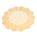 Goldene Sonnenblume & Lace Patter Runde PVC Coaster