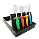 Smiling Face Design Knife Spoon Fork Openner Set