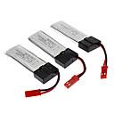 3 Pack WLtoys V959/V212/V222 Remote Control Quadcopter Parts 3.7V 500mAh Battery