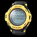 Unisex Water-Resistant Heart Rate Monitor Rubber Band Digital Wrist Watch with Pedometer (Assorted Colors)