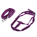 "Adjustable Reflective Line Harness with Leash for Pets Dogs Cats (Assorted Colors, 120cm/47.2"")"