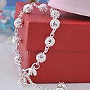 Women's Silver Plated Hollow Ball Bracelet