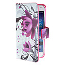 For Samsung Galaxy Case Card Holder / with Stand / Flip / Pattern / Magnetic Case Full Body Case Flower PU Leather Samsung S4 Mini