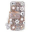 Alloy Sachet Ornament Jewelry Covered Back Case for iPhone 4/4S