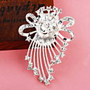 Silver Plated Bowknot Flower Brooch