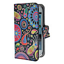 Colorful Painting Pattern PU Leather Case with Stand and Card Slot for Samsung Galaxy S3 mini I8190