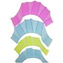 Medium Size 100% Silicon Swimming Practising Webbed Gloves(2 Pcs, Color Ramdon)