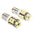 BA9S 1.5W 20x3528SMD 100-120LM 6000-6500K White Light LED Bulb for Car (DC 12V, 2-Pack)
