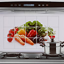 75x45cm Vegetables Pattern Oil-Proof Water-Proof Hot-Proof Kitchen Wall Sticker