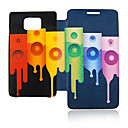 Colorful Sound Leather Case for Samsung Galaxy S2 I9100