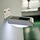 Outdoor Solar Powered PIR Sensor 1W 100LM 6000K 16-LED Lamp - Silver + Black