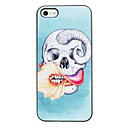 Коза черепа с Футляр Freaking Рот Pattern ПК с черной рамкой для iPhone 5 / 5S